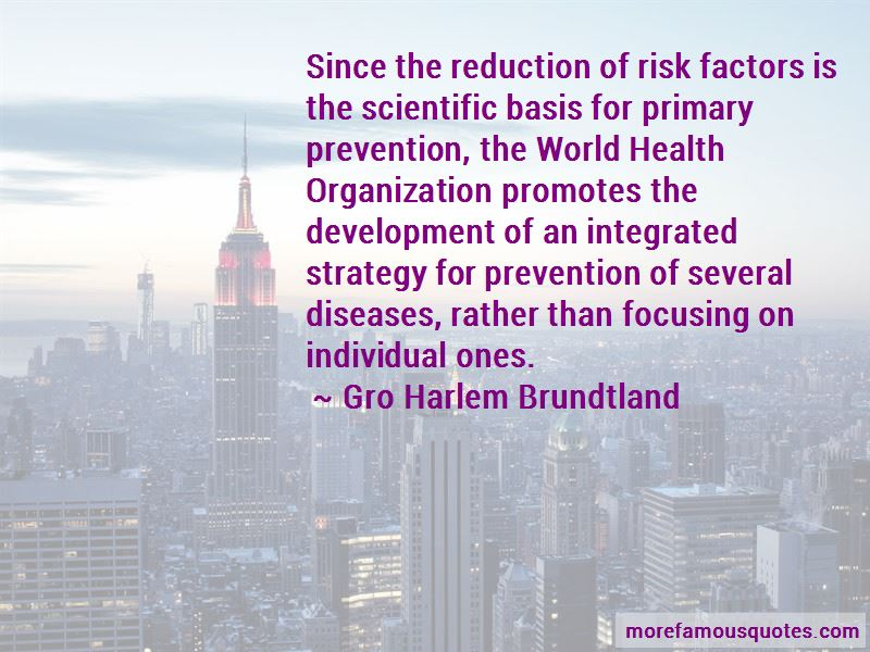 Quotes About Primary Prevention