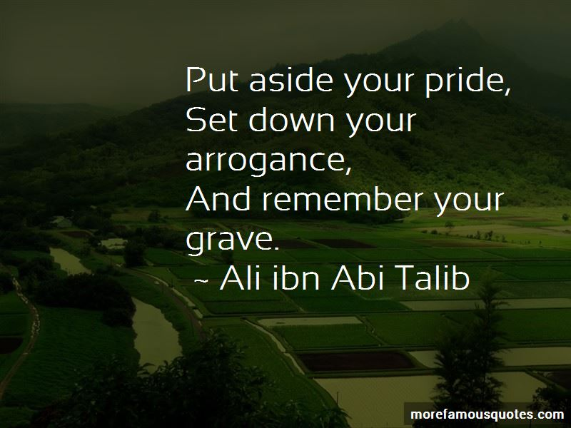 Set Pride Aside Quotes