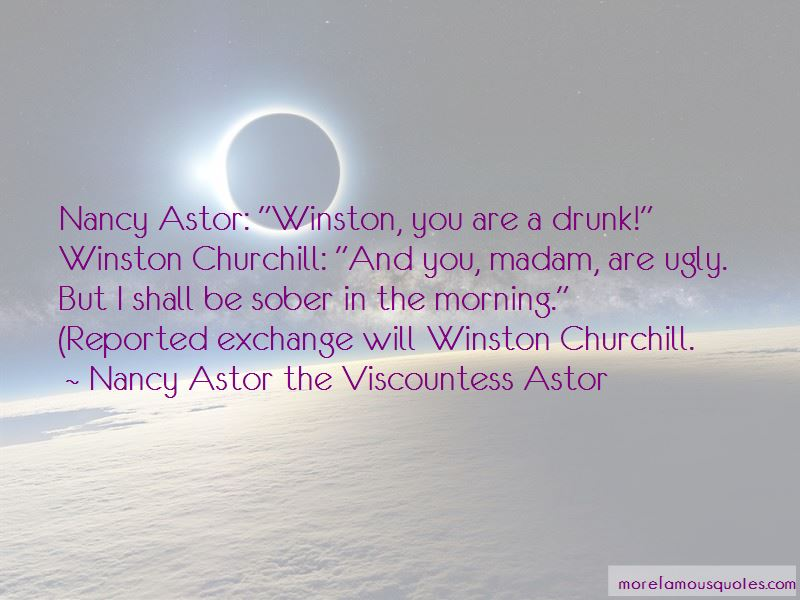 Winston Churchill Nancy Astor Quotes Pictures 3