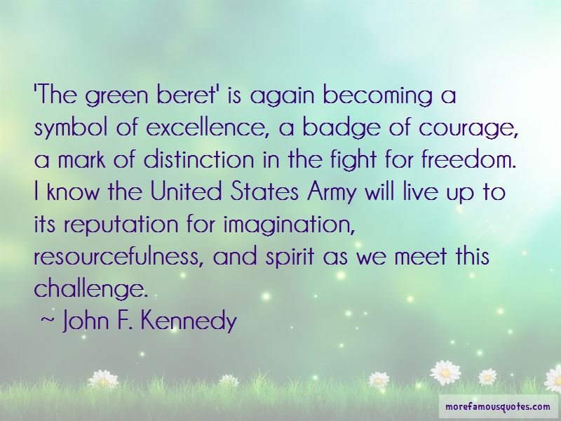Army Green Beret Quotes: top 2 quotes about Army Green Beret