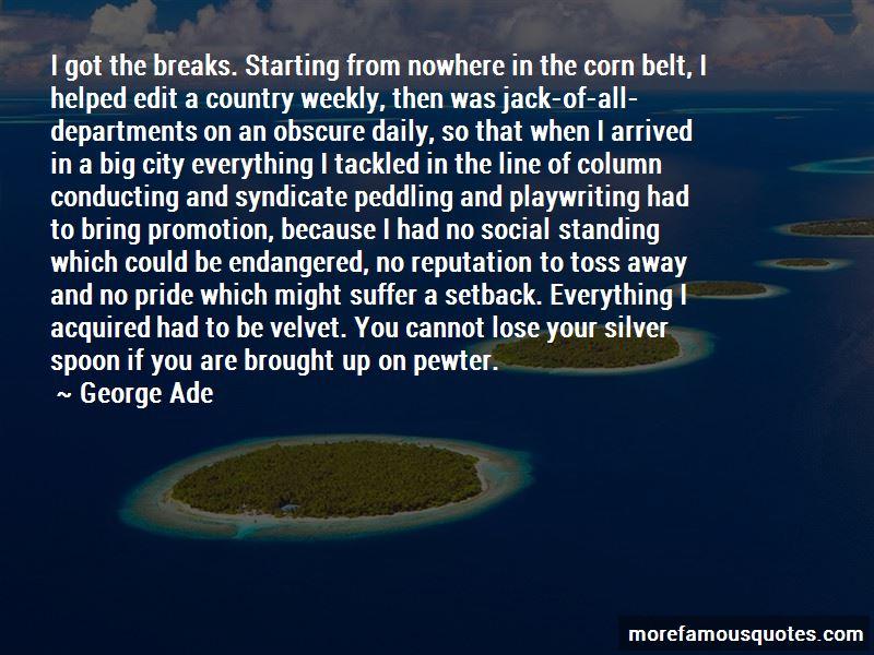 Corn Toss Quotes