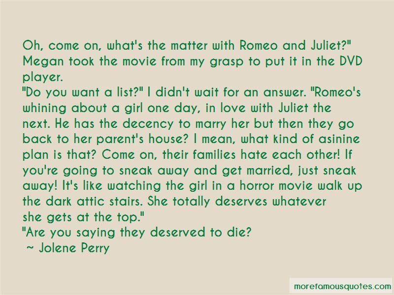 Dark House Movie Quotes
