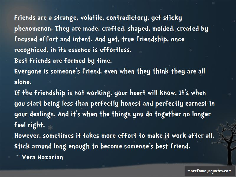 Friendship Effortless Quotes