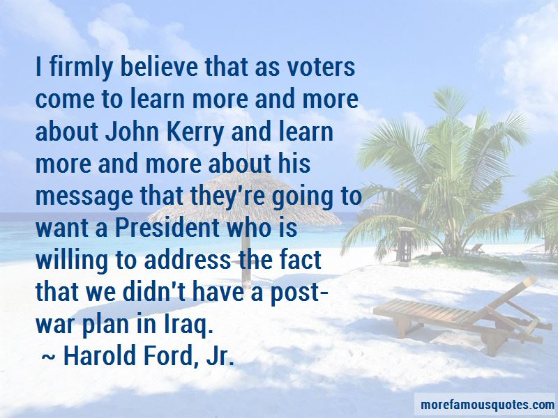 John Kerry Iraq War Quotes