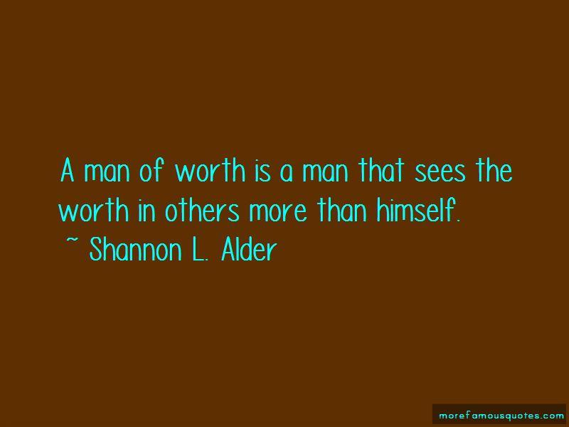 Man Of Worth Quotes