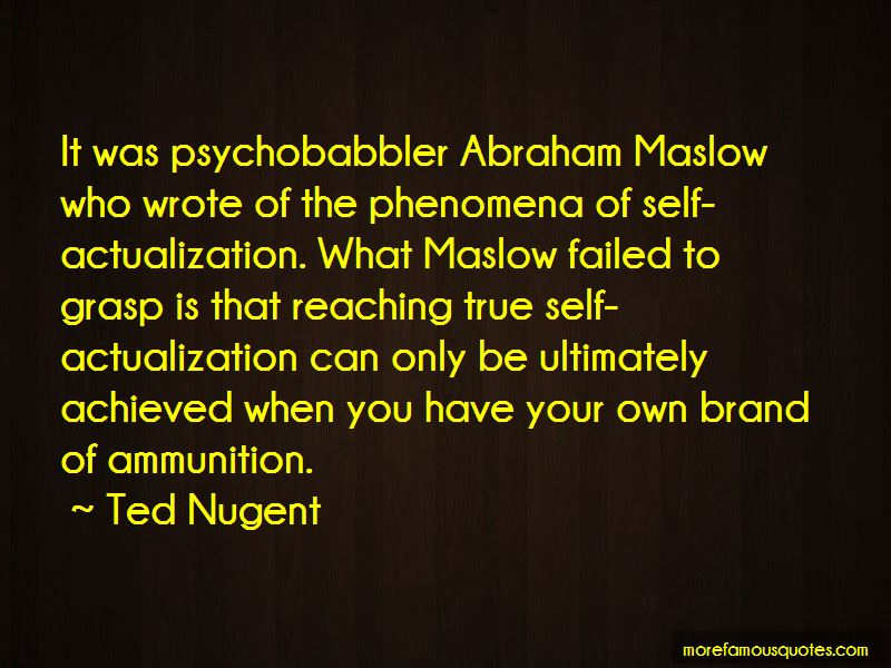 Maslow Self Actualization Quotes