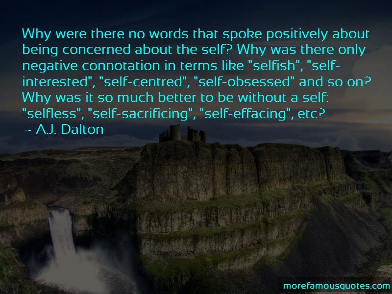 Quotes About Being Self Centred