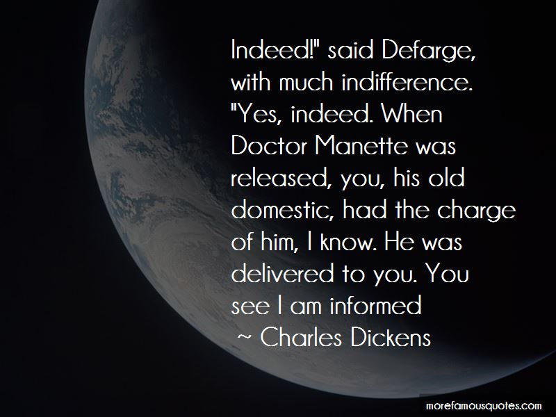 Quotes About Dr Manette