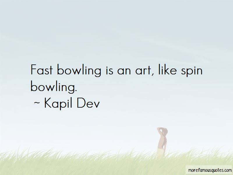 Quotes About Fast Bowling