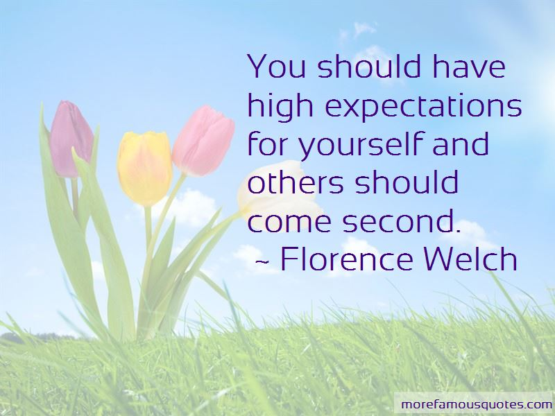 Quotes About High Expectations For Yourself