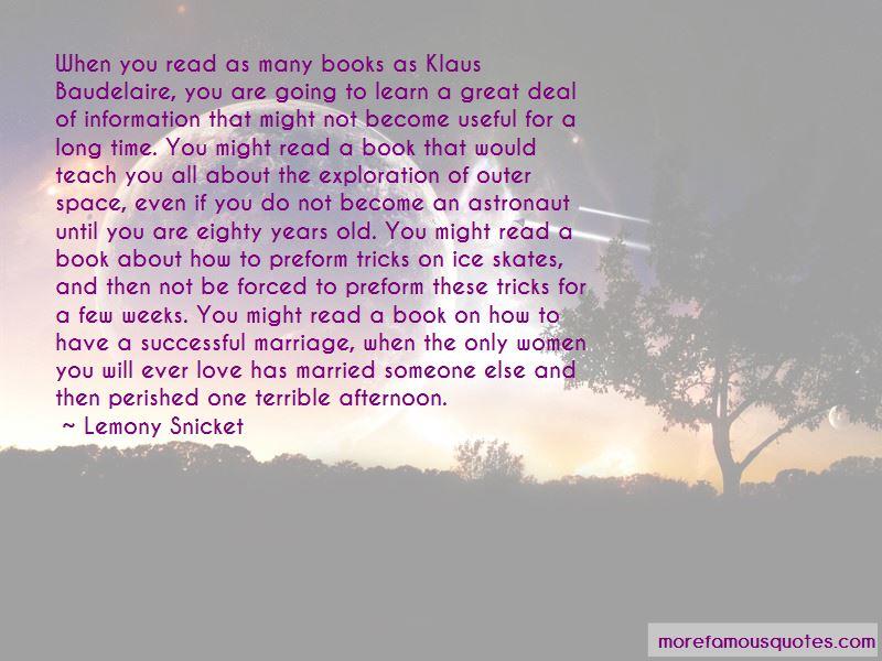 Quotes About Klaus Baudelaire