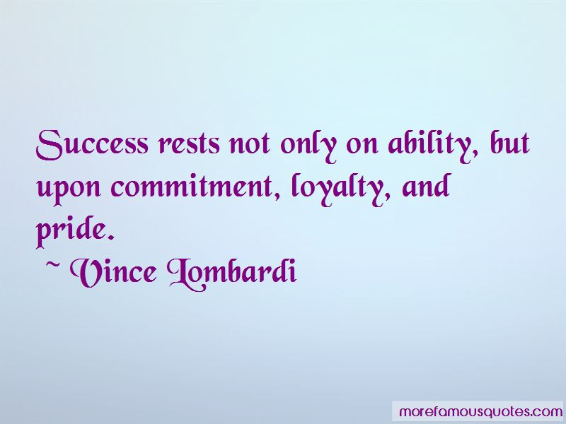 Quotes About Loyalty And Commitment