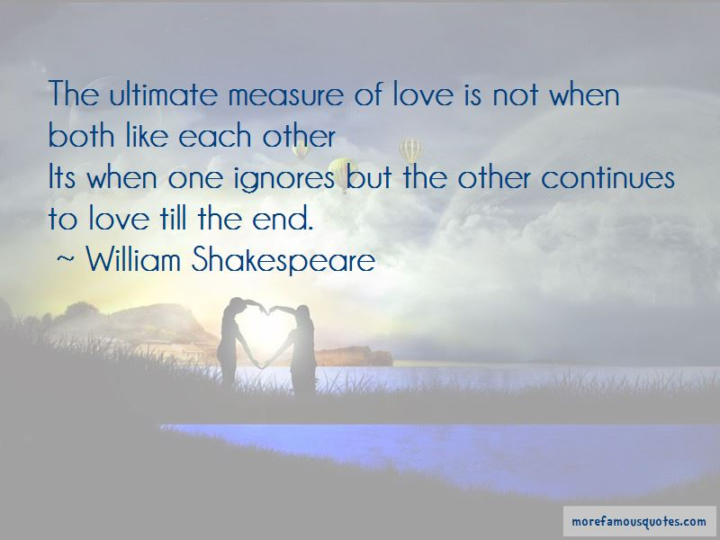 Quotes About Measure Of Love