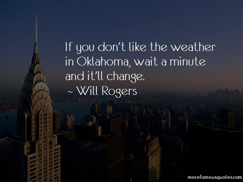 Quotes About Oklahoma Weather
