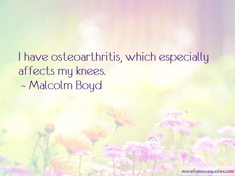 Quotes About Osteoarthritis