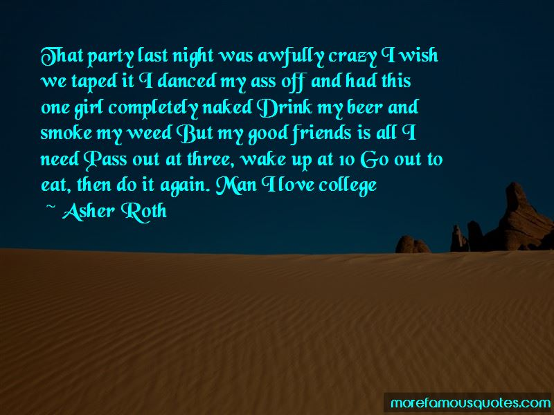Party Last Night Quotes Pictures 2