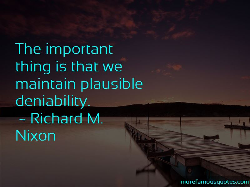 Quotes About Plausible Deniability