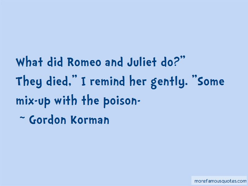 Quotes About Poison In Romeo And Juliet