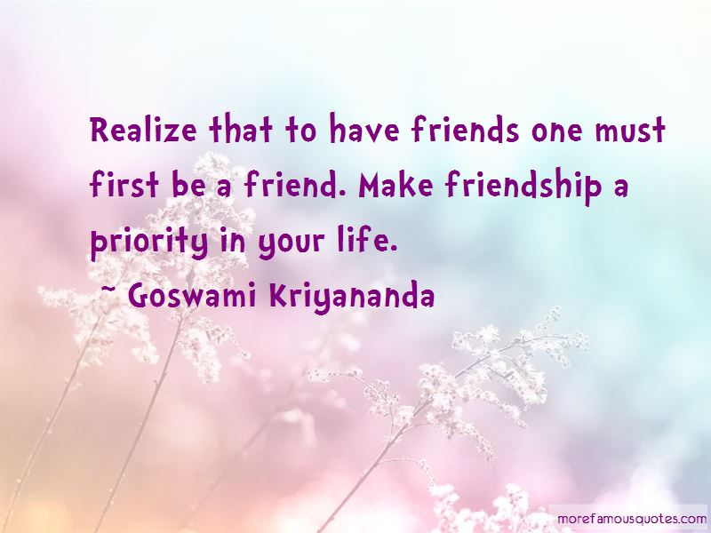 Quotes About Priority In Friendship