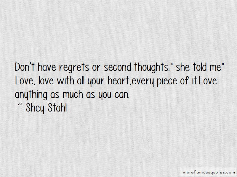 Second Thoughts On Love Quotes Pictures 2