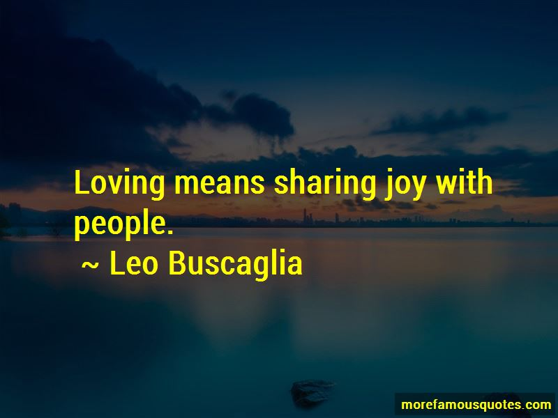 Quotes About Sharing Joy
