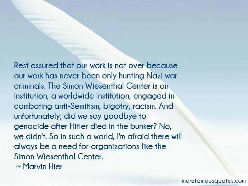 Quotes About Simon Wiesenthal