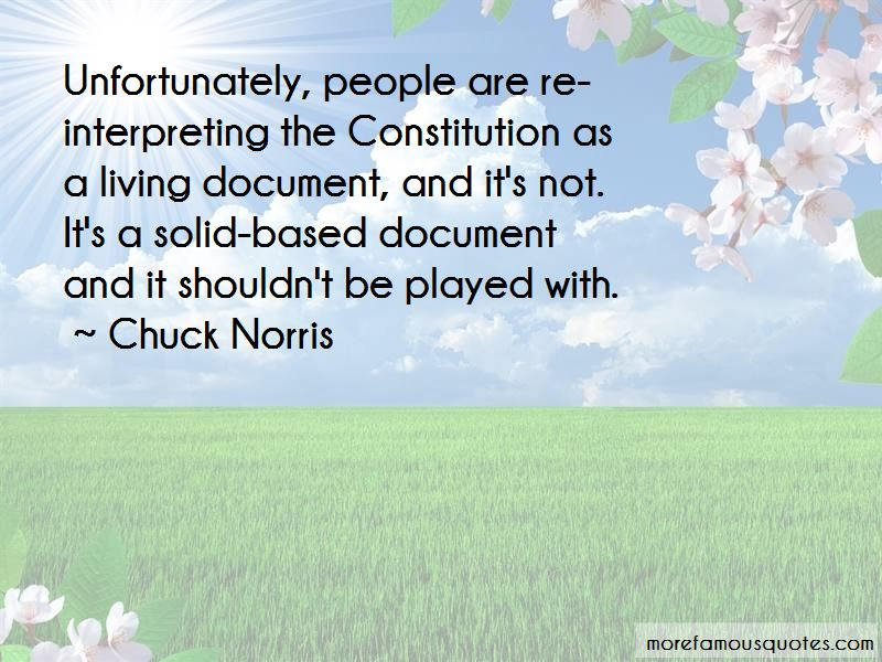 Quotes About The Constitution As A Living Document