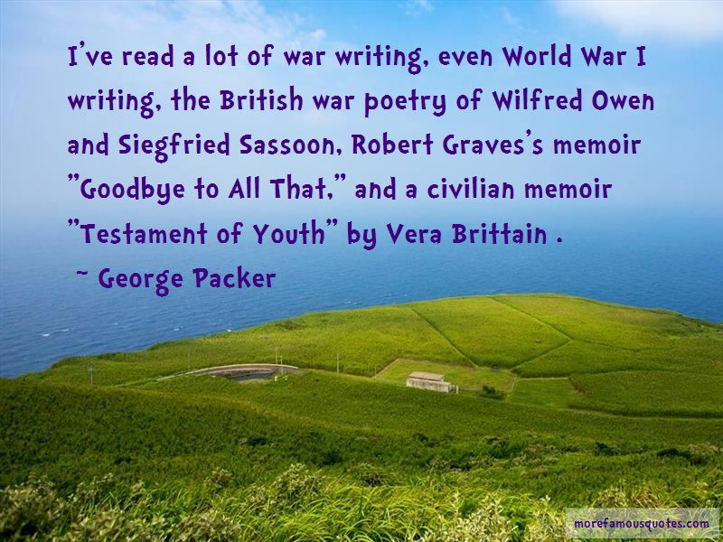 Quotes About Wilfred Owen