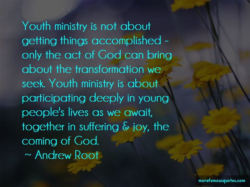 Quotes About Youth Ministry