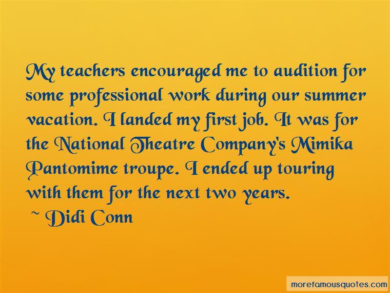 Theatre Audition Quotes