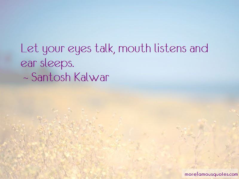 Your Eyes Talk Quotes