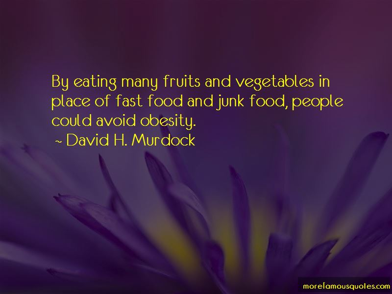 Fast Food Obesity Quotes