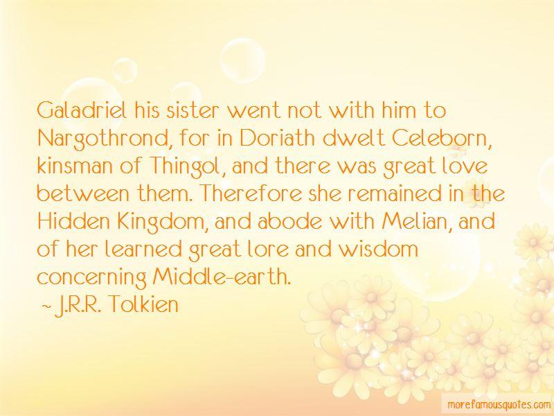 Galadriel And Celeborn Quotes