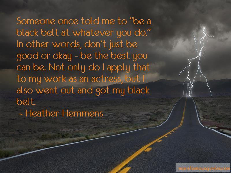 Good Black Belt Quotes