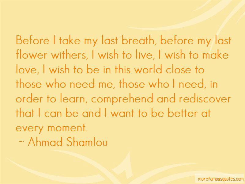 Last Breath Love Quotes