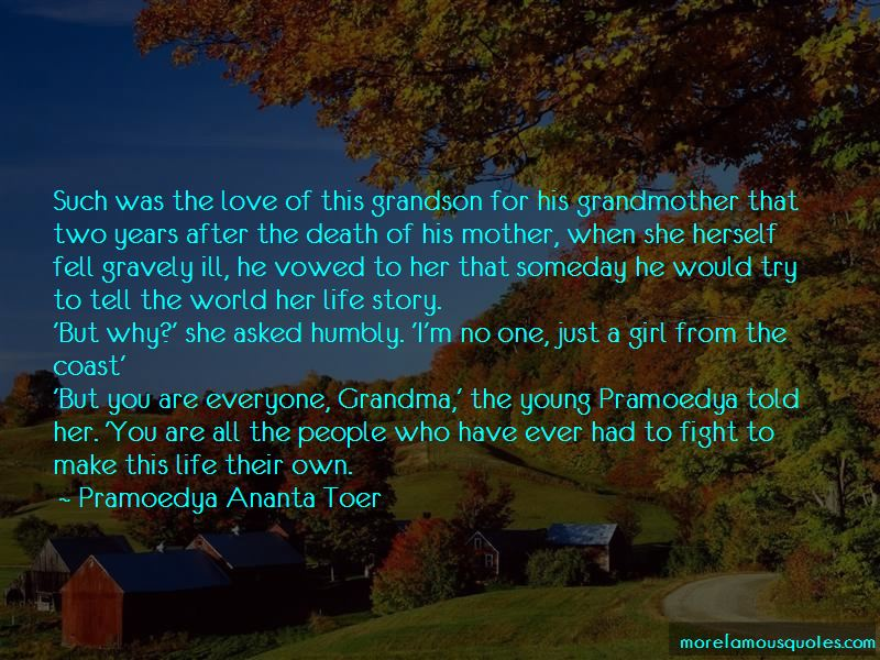 Quotes About A Death Grandmother: top 23 A Death Grandmother ...