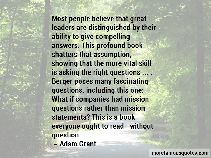 Quotes About Asking The Right Questions