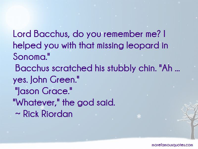Quotes About Bacchus