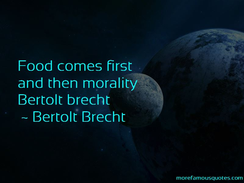 Quotes About Bertolt Brecht Top 1 Bertolt Brecht Quotes