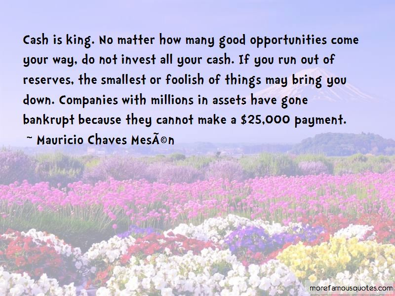 Quotes About Cash Is King