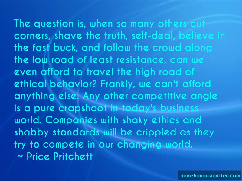 ethical behavior in the business world