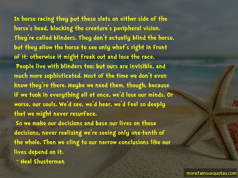 Horse Blinders Quotes Pictures 3