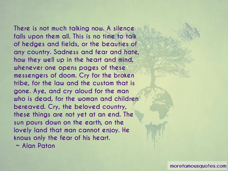 Quotes About Land In Cry The Beloved Country