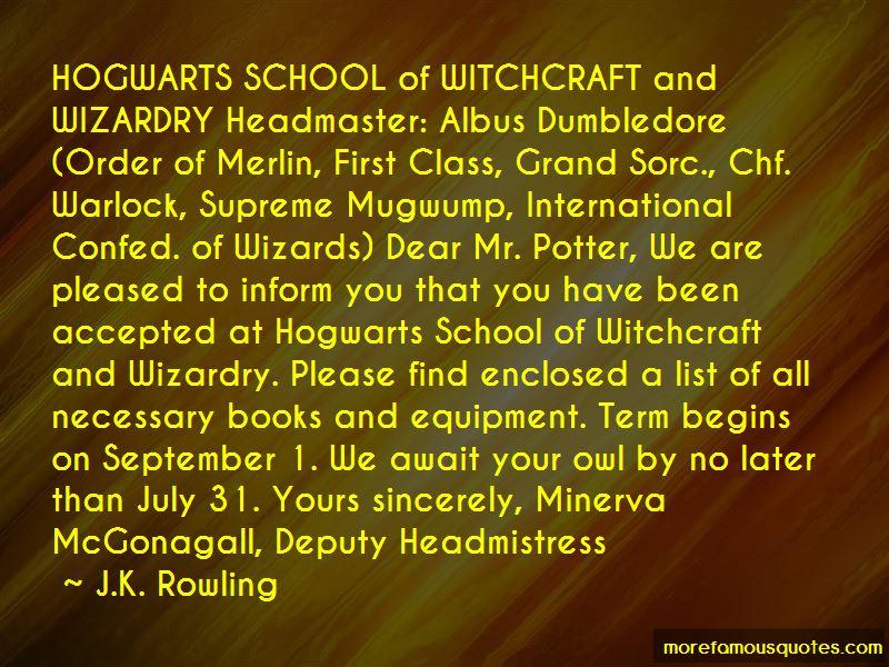 Quotes About Minerva Mcgonagall