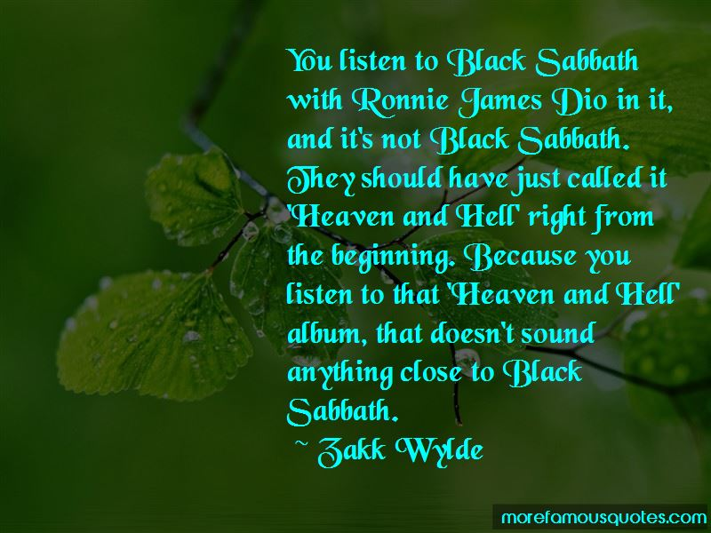 Quotes About Ronnie James Dio