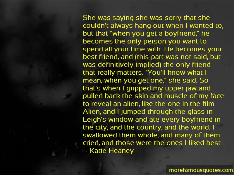 Boyfriend sorry for my Heart Touching