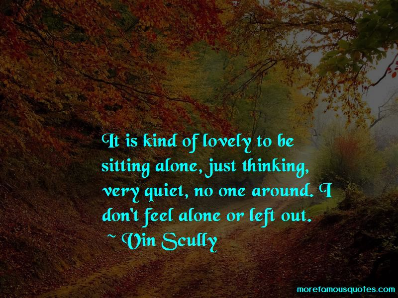 Quotes About Sitting Alone
