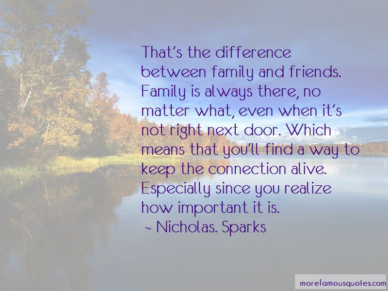 Quotes About The Difference Between Friends And Family: top ...