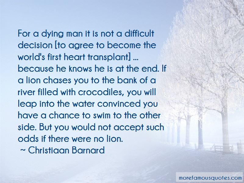 Quotes About The First Heart Transplant