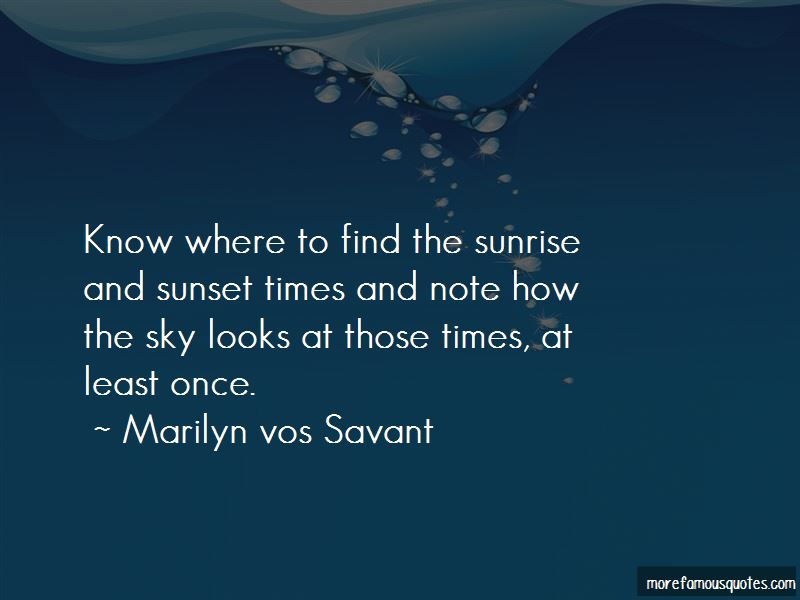 Quotes About The Sunrise And Sunset